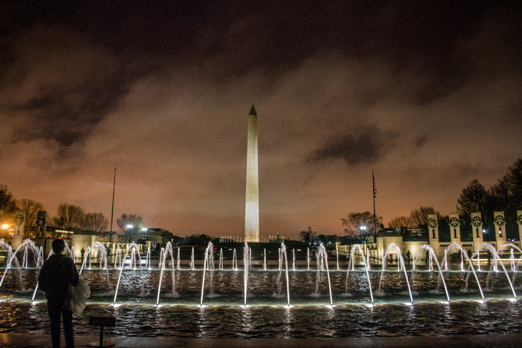 War Memorial at night- DC