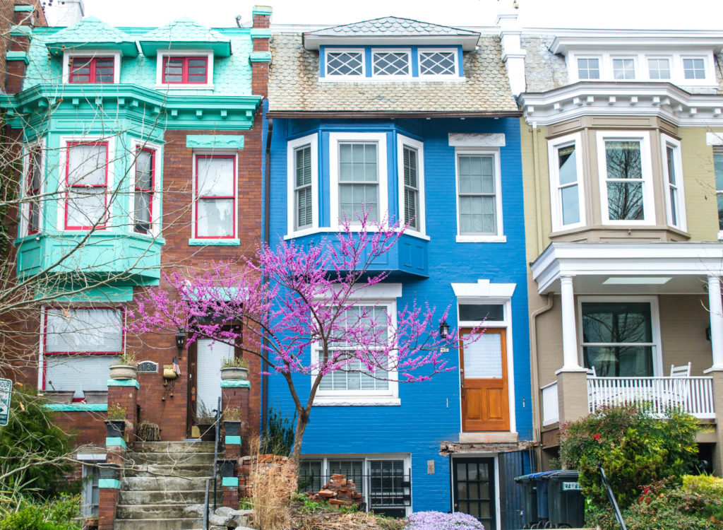 Colorful Georgetown houses