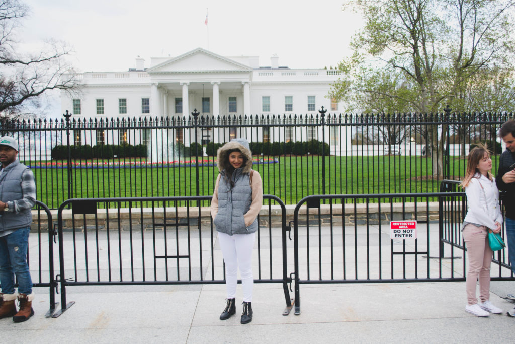 That tourist pic in front of White House! :D
