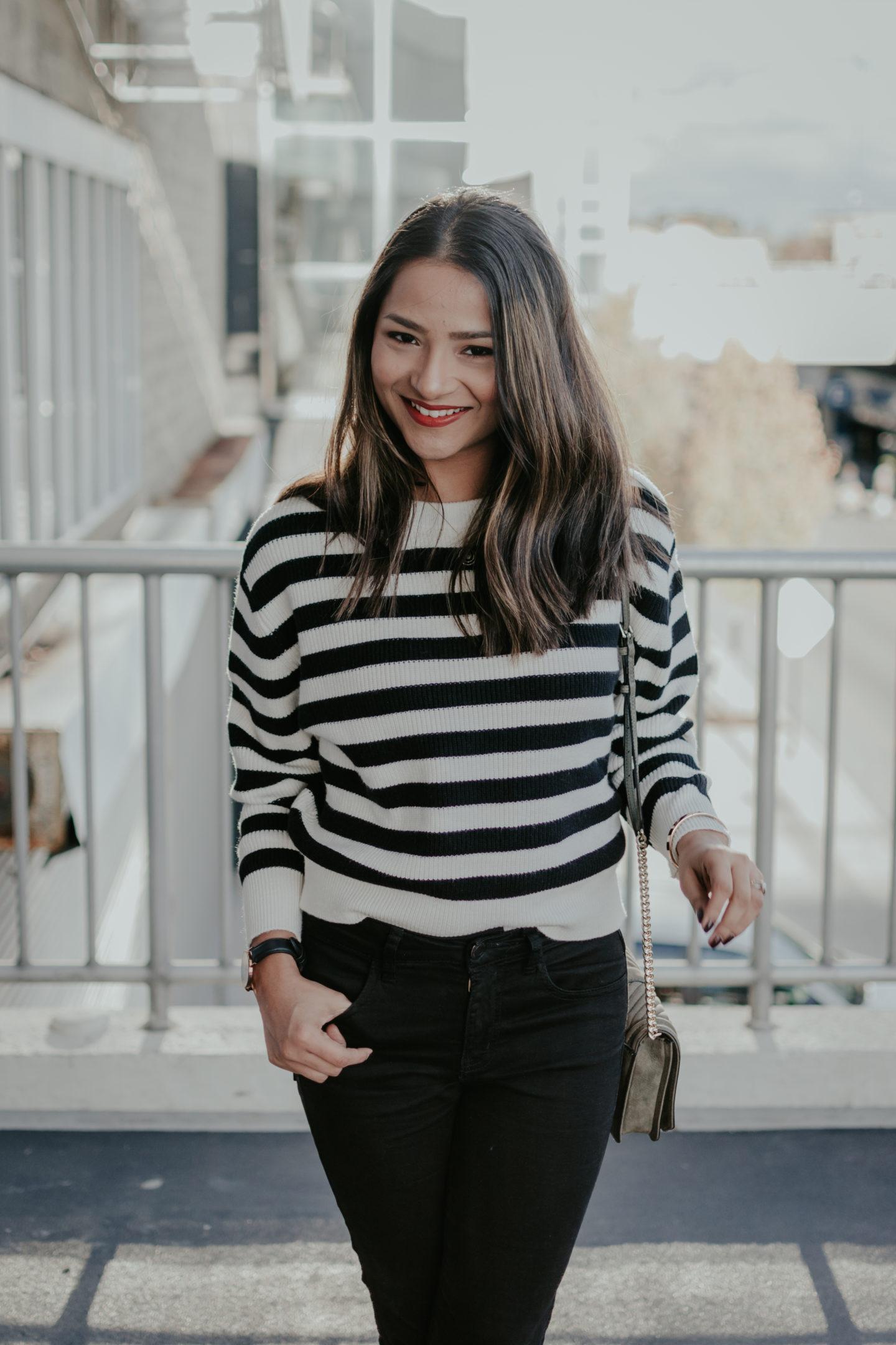 Zara || Striped Sweater || Fall Fashion